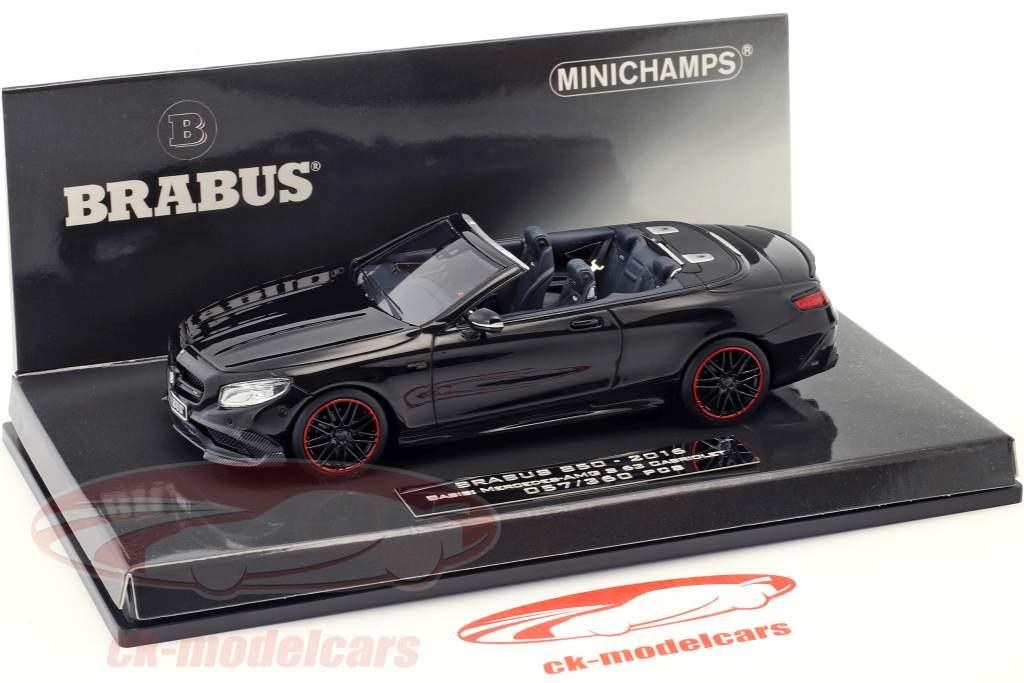 Brabus 850 auf Basis Mercedes-Benz AMG S 63 Cabriolet Baujahr 2016 schwarz 1:43 Minichamps