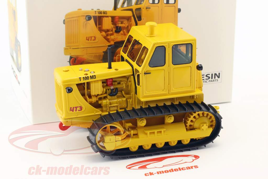 Kettentraktor T100 M3 gelb 1:32 Schuco
