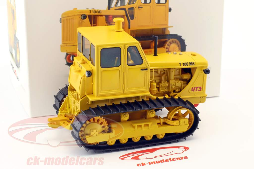 kæde traktor T100 M3 gul 1:32 Schuco