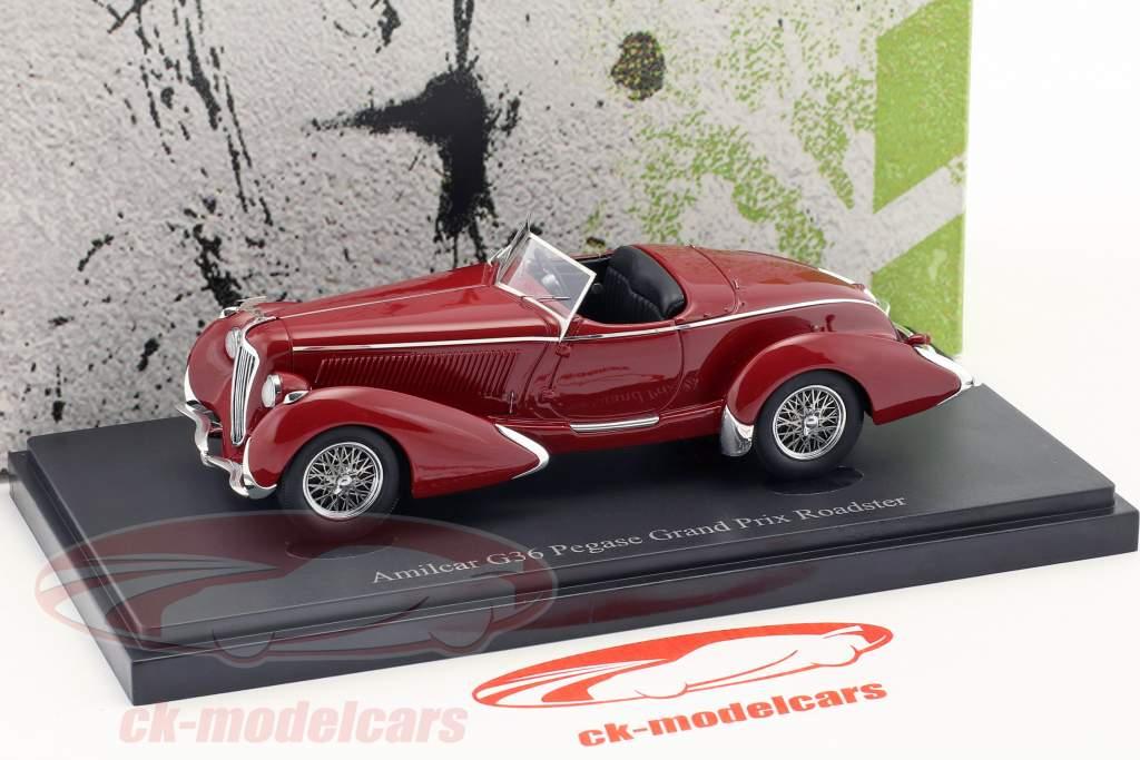 Amilcar G36 Pegase Grand Prix Roadster year 1935 dark red 1:43 AutoCult