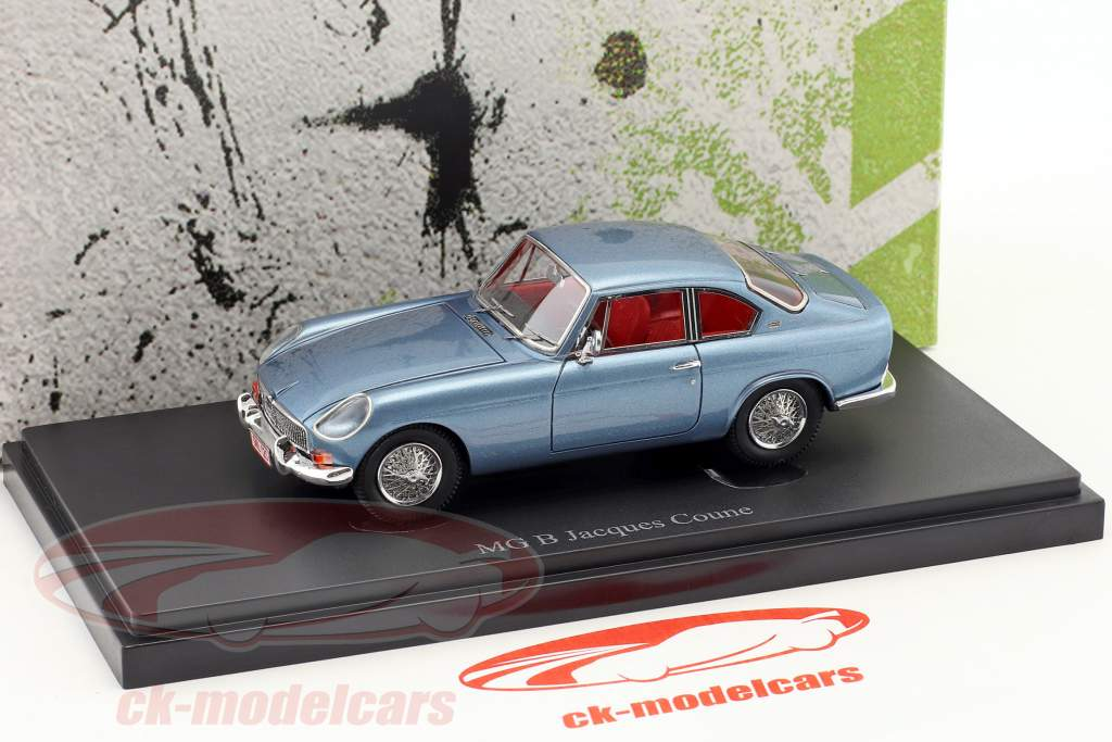 MG B Jacques Coune year 1964 blue metallic 1:43 AutoCult