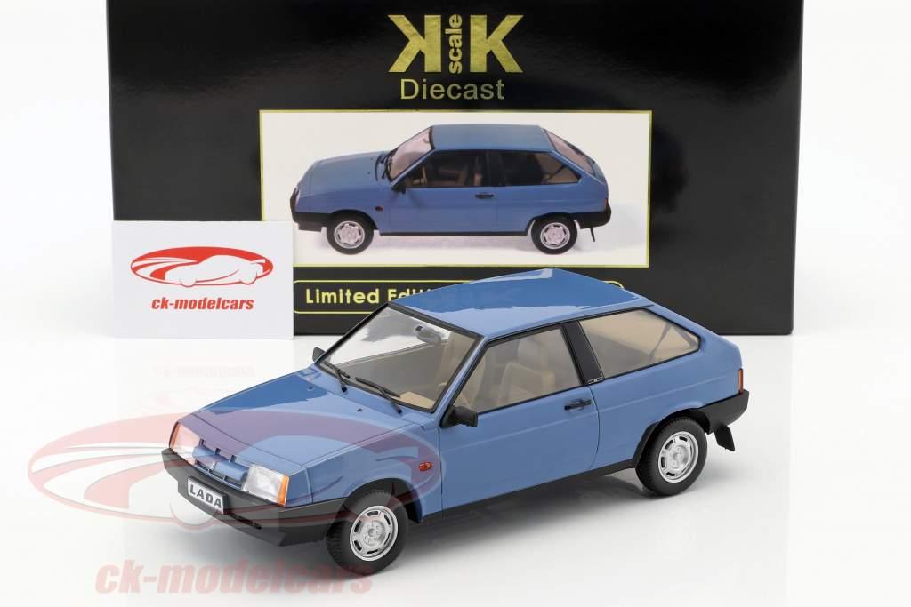 Lada Samara Opførselsår 1984 blå 1:18 KK-Scale
