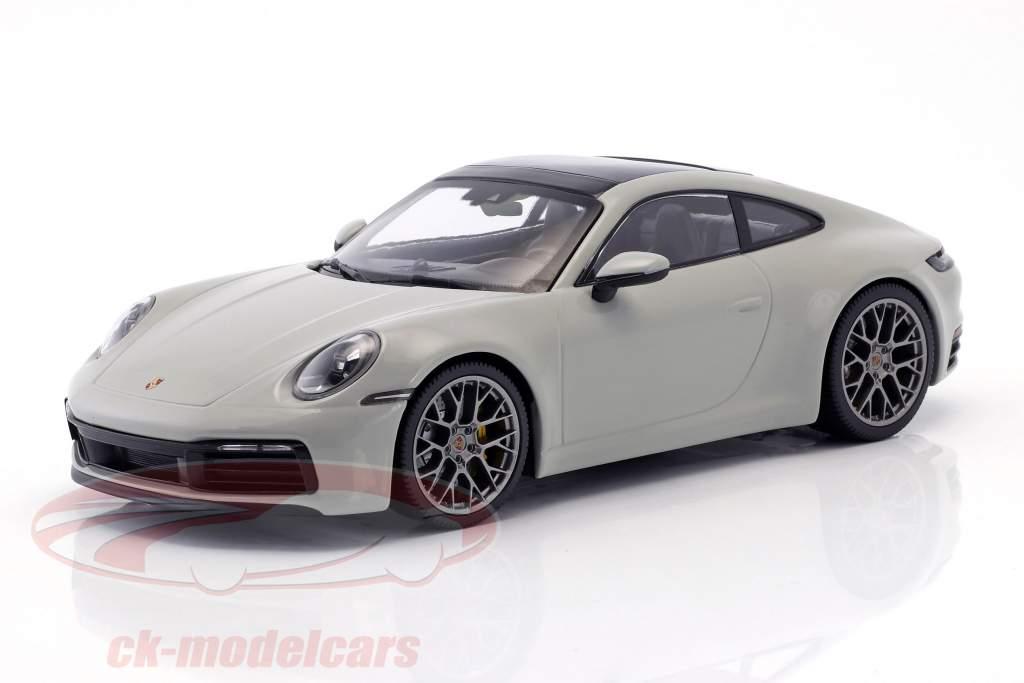Porsche 911 (992) Carrera 4S année de construction 2019 craie gris 1:18 Minichamps