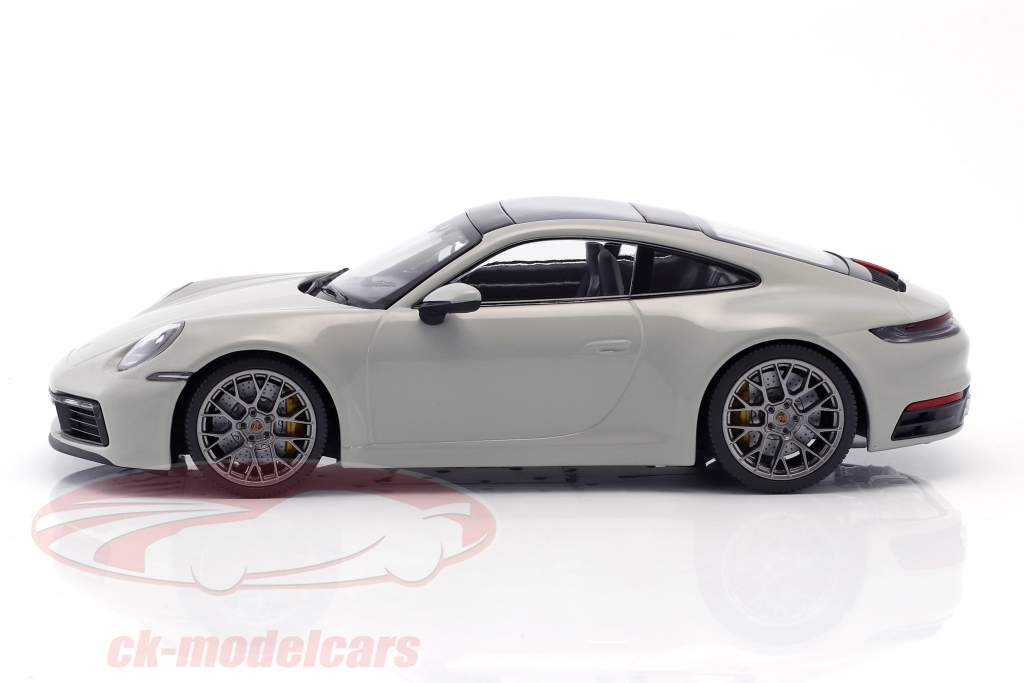 Porsche 911 (992) Carrera 4S year 2019 chalk gray 1:18 Minichamps