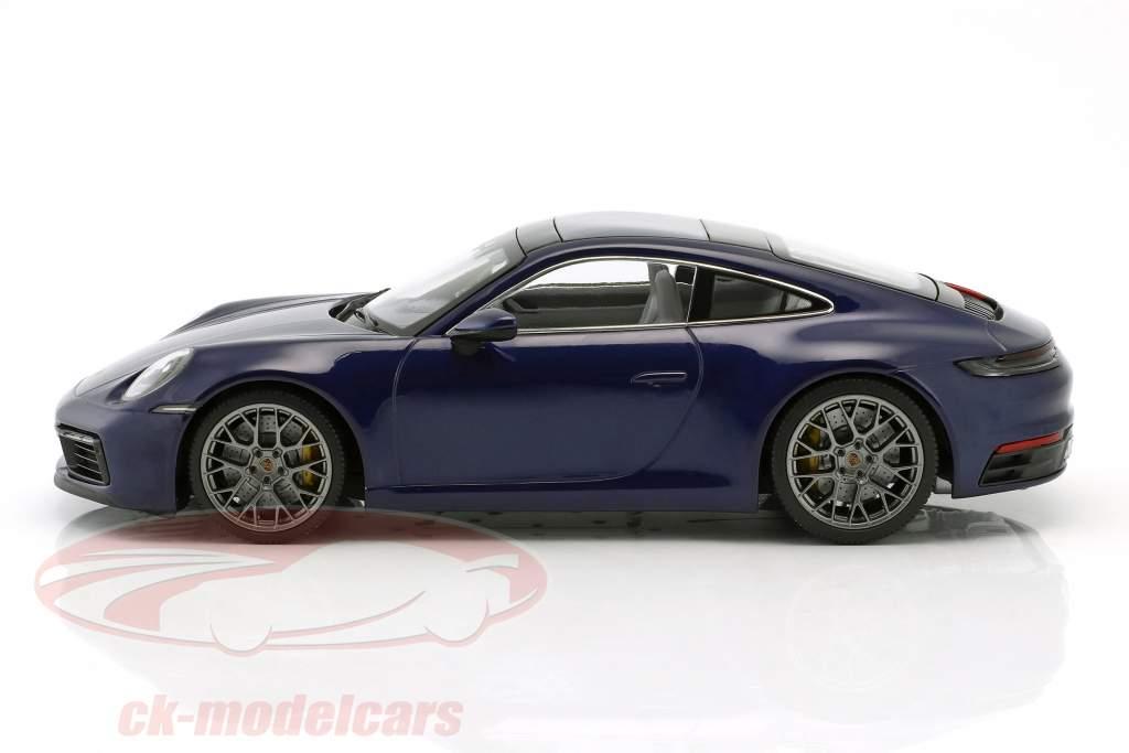 Porsche 911 (992) Carrera 4S Baujahr 2019 enzianblau 1:18 Minichamps