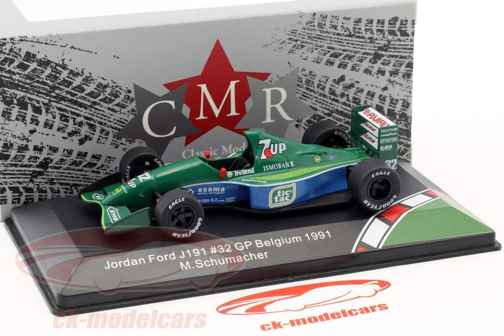 Michael Schumacher Jordan Ford 191 #32 F1 debut Belgien GP formel 1 1991 1:43 CMR