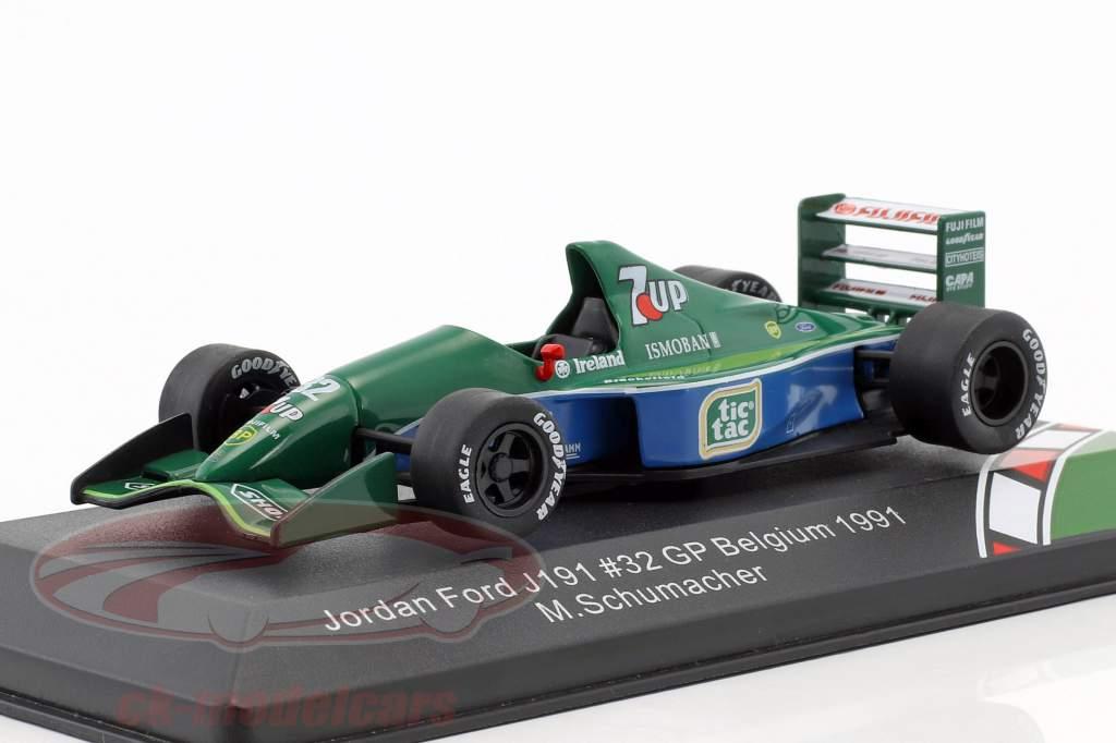 Michael Schumacher Jordan Ford J191 #32 F1 Debut Belgien GP Formel 1 1991 1:43 CMR