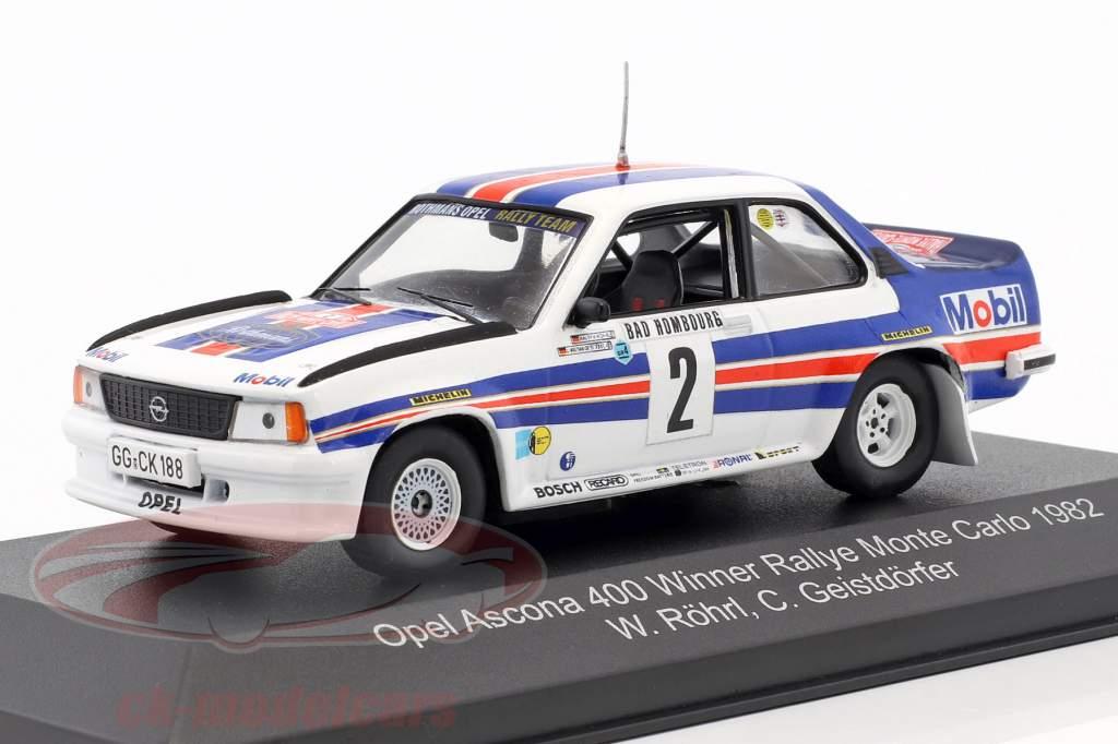 Opel Ascona 400 #2 vincitore Rallye Monte Carlo 1982 Röhrl, Geistdörfer 1:43 CMR