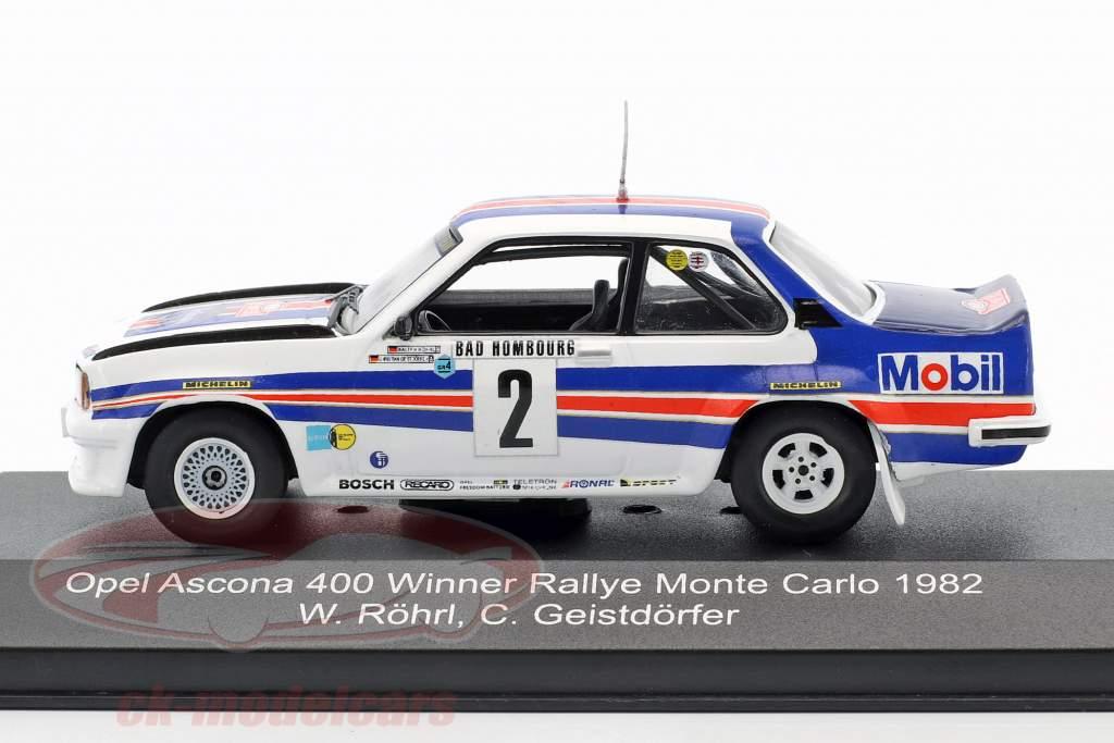 Opel Ascona 400 #2 vencedor Rallye Monte Carlo 1982 Röhrl, Geistdörfer 1:43 CMR