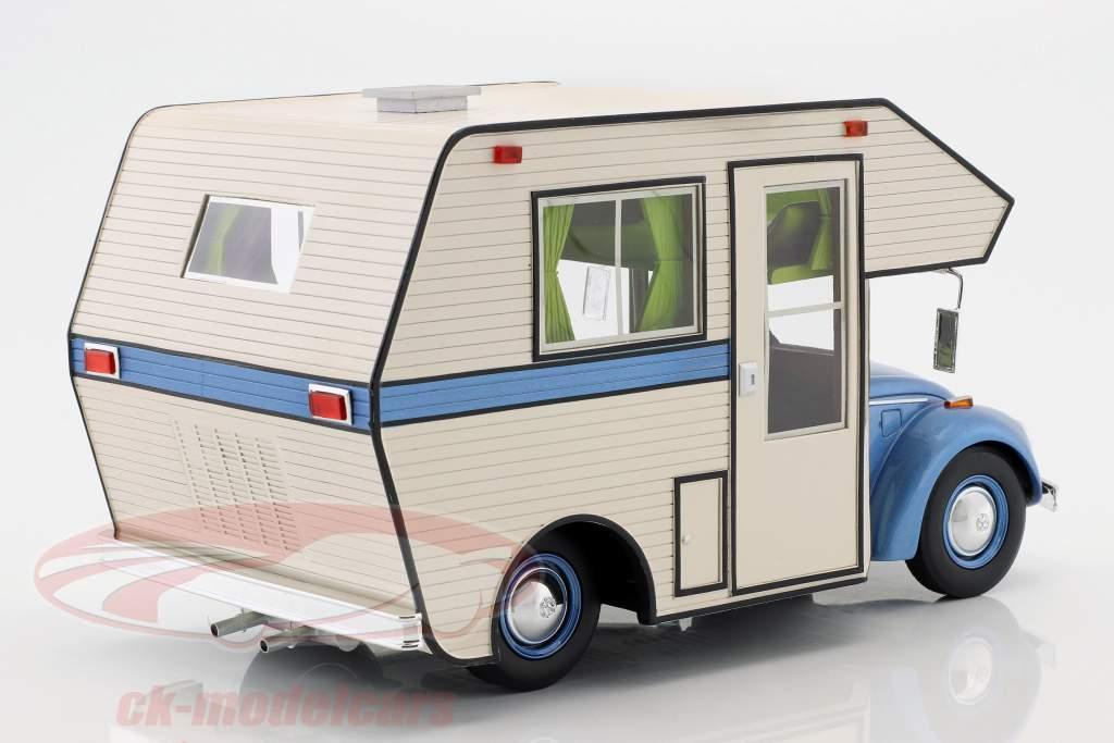 Volkswagen VW bille Motorhome blå / hvid 1:18 Schuco