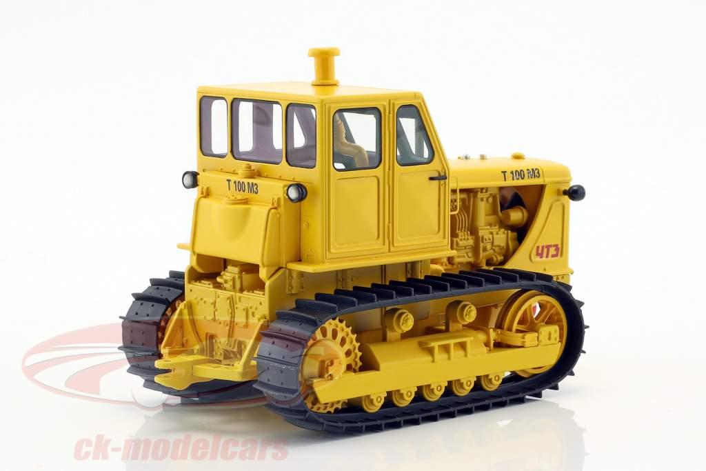 tracteur chaîne T100 M3 jaune 1:32 Schuco