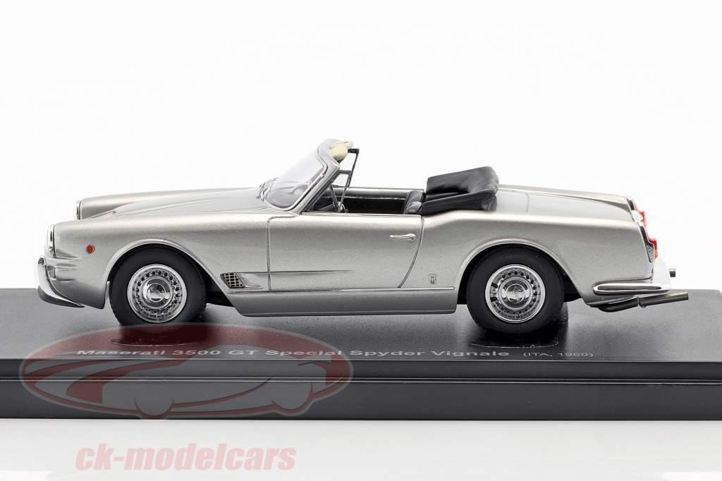 Maserati 3500 GT Special Spyder Vignale Baujahr 1960 silber 1:43 AutoCult