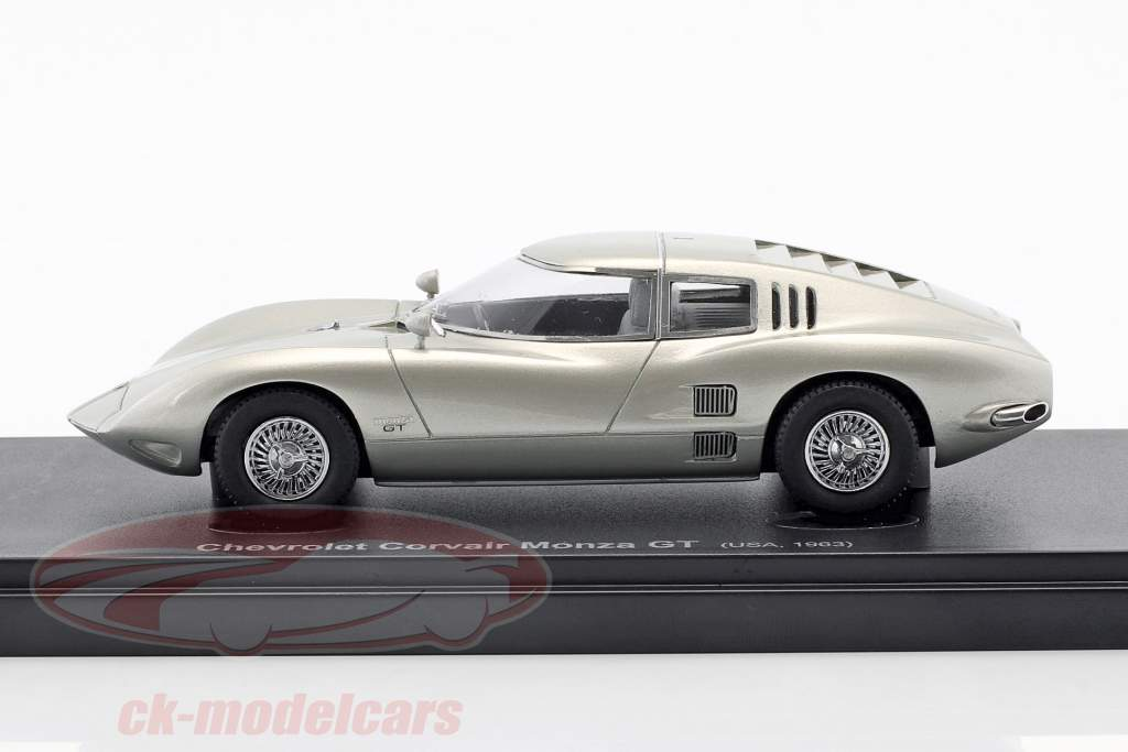 Chevrolet Corvair Monza GT year 1963 silver 1:43 AutoCult