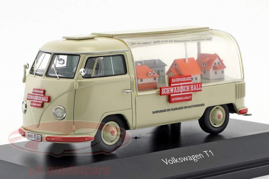 Volkswagen VW T1a Bus Schwäbisch Hall beige 1:43 Schuco