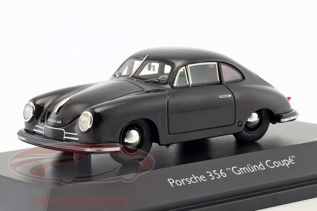 Porsche 356 Gmünd Coupe zwart 1:43 Schuco