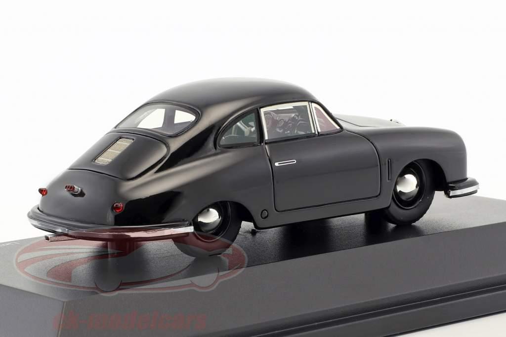 Porsche 356 Gmünd Coupe preto 1:43 Schuco