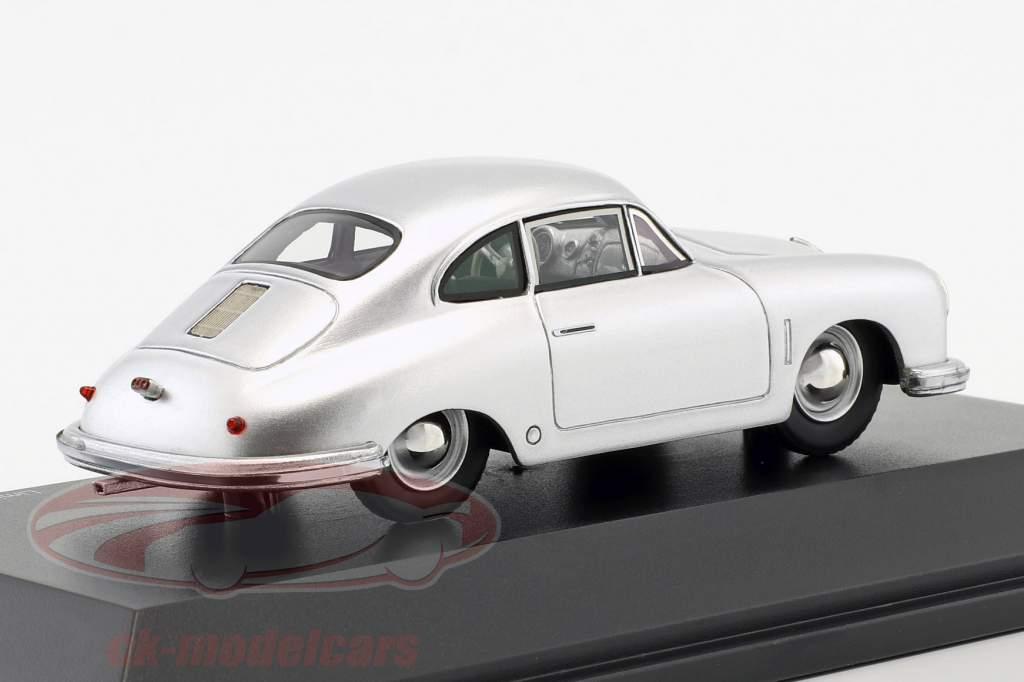 Porsche 356 Gmünd Coupe argento 1:43 Schuco
