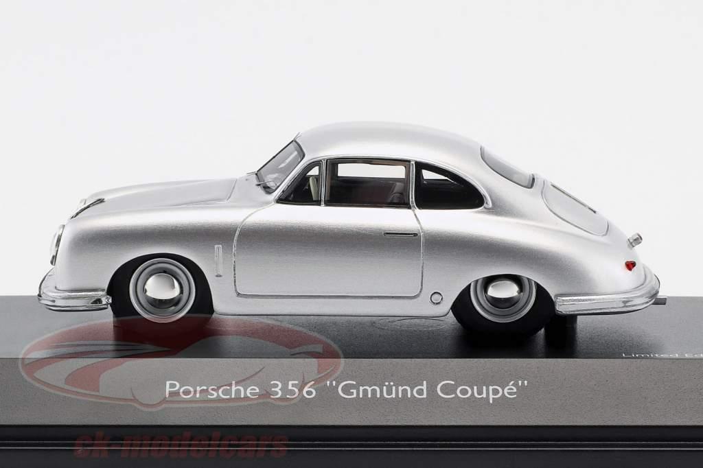 Porsche 356 Gmünd Coupe sølv 1:43 Schuco