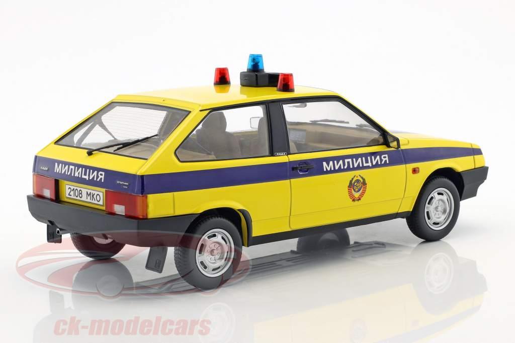 Lada Samara Polizei Russland Baujahr 1984 gelb / blau 1:18 KK-Scale