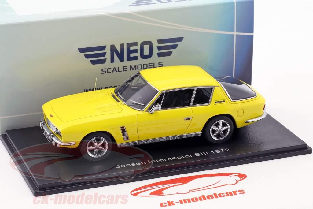 Jensen Interceptor SIII Baujahr 1972 gelb 1:43 Neo