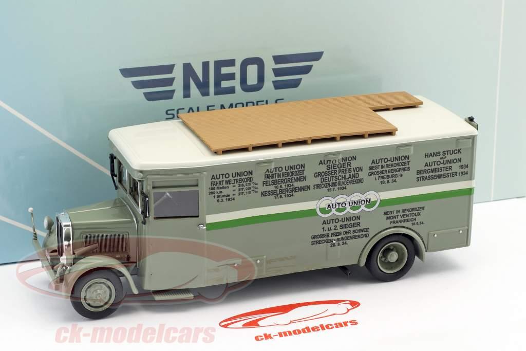 NAG Büssing løb lastbil Auto Union grøn / hvid 1:43 Neo