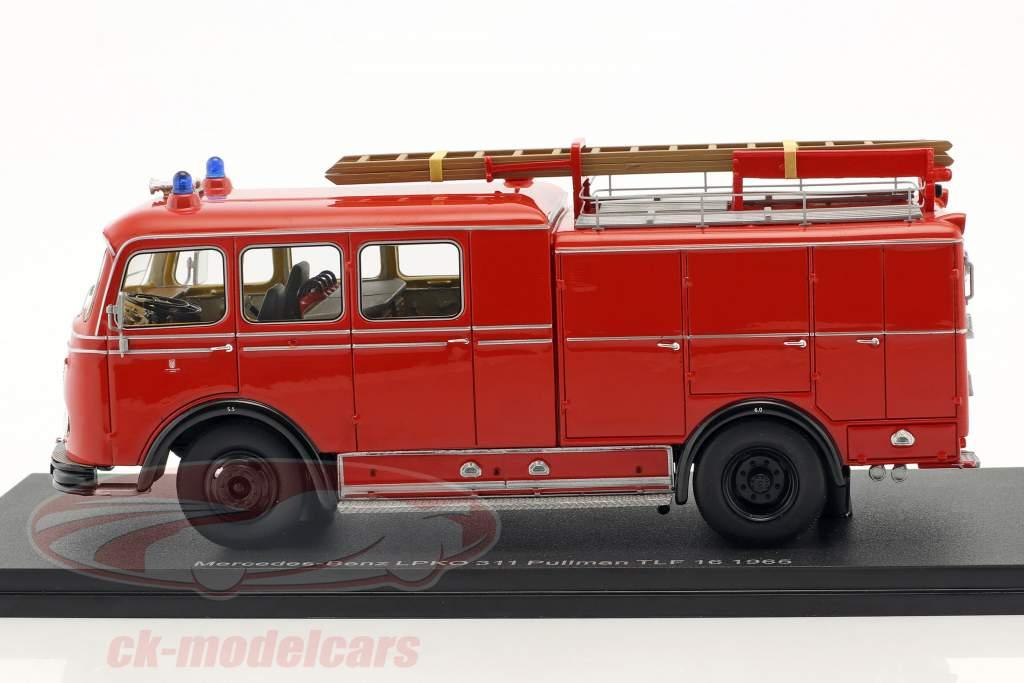Mercedes-Benz LPKO 311 Pullman TLF 16 brandvæsen rød 1:43 Neo
