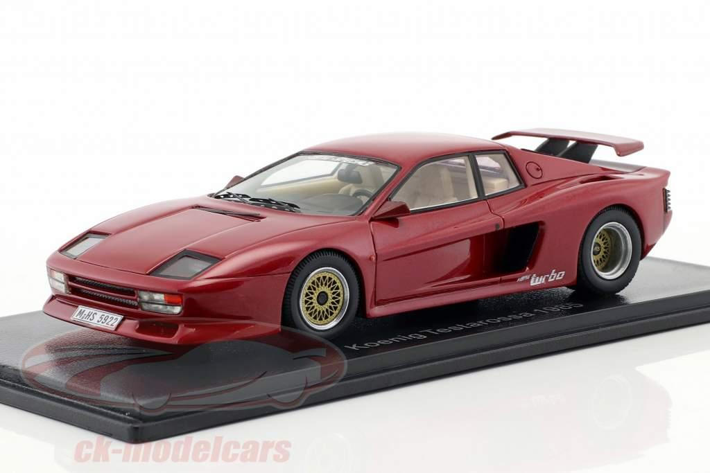 Ferrari Koenig Testarossa Opførselsår 1985 rød metallisk 1:43 Neo