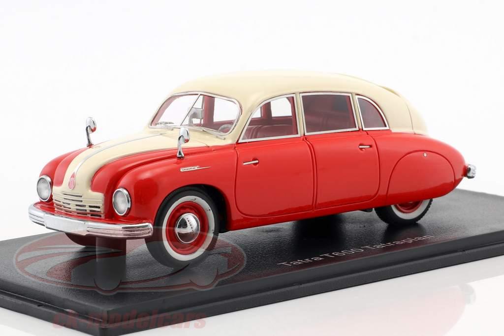 Tatra T600 Tatraplan année de construction 1948 rouge / crème blanc 1:43 Neo
