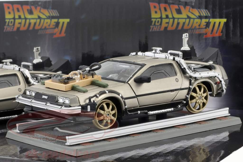 DeLorean DMC-12 Retour vers le futur 3 voitures-jeu 1:43 SunStar