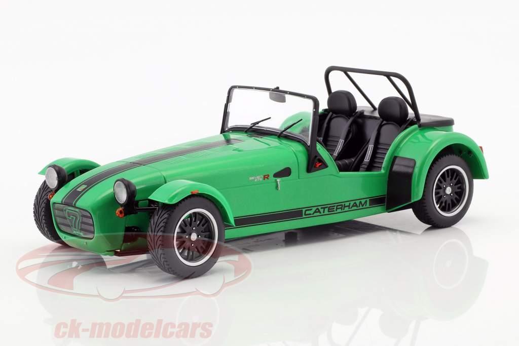 Caterham Seven 275R Bouwjaar 2014 groen / zwart 1:18 Solido