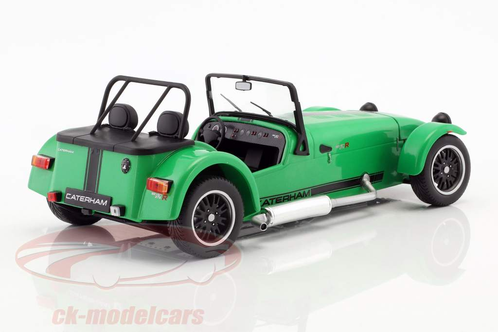 Caterham Seven 275R Baujahr 2014 grün / schwarz 1:18 Solido