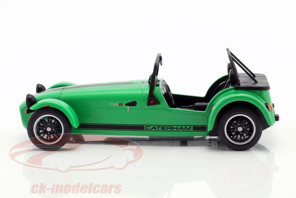 Caterham Seven 275R année de construction 2014 vert / noir 1:18 Solido