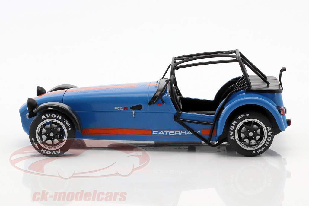 Caterham Seven 275R Baujahr 2014 blau / orange 1:18 Solido