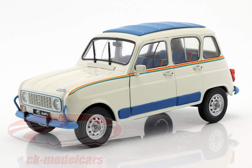 Renault 4L Jogging année de construction 1981 blanc / bleu 1:18 Solido