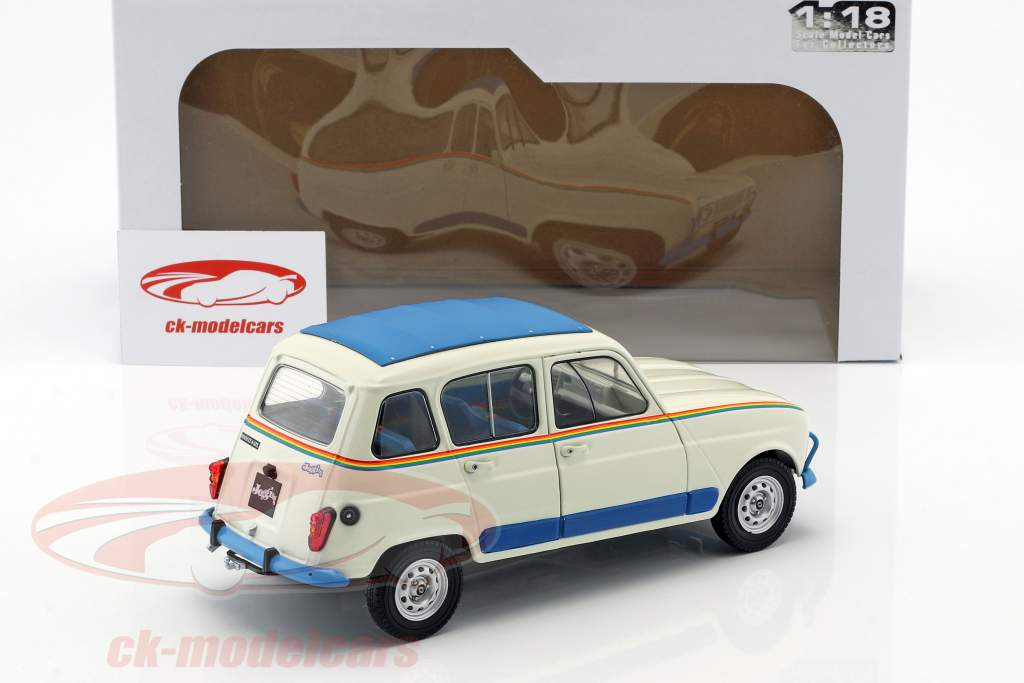 Renault 4L Jogging year 1981 white / blue 1:18 Solido