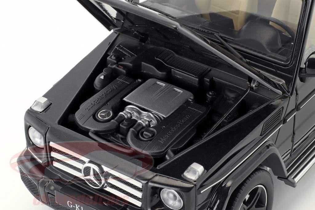 Mercedes-Benz G-klasse (W463) Opførselsår 2015 obsidian sort 1:18 iScale