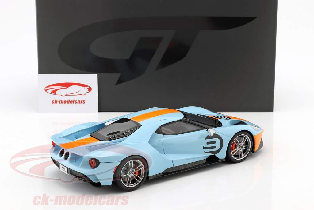 Ford GT Heritage Edition 2019 Gulf #9 blue / orange 1:18 GT-Spirit