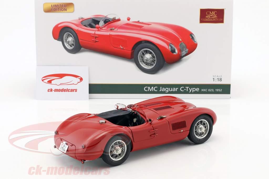Jaguar C-Type Opførselsår 1952 rød 1:18 CMC