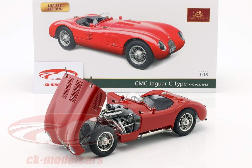 Jaguar C-Type year 1952 red 1:18 CMC