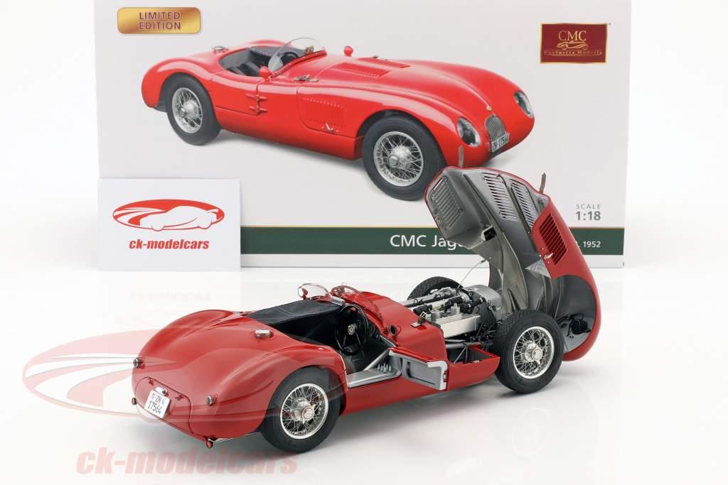 Jaguar C-Type Baujahr 1952 rot 1:18 CMC