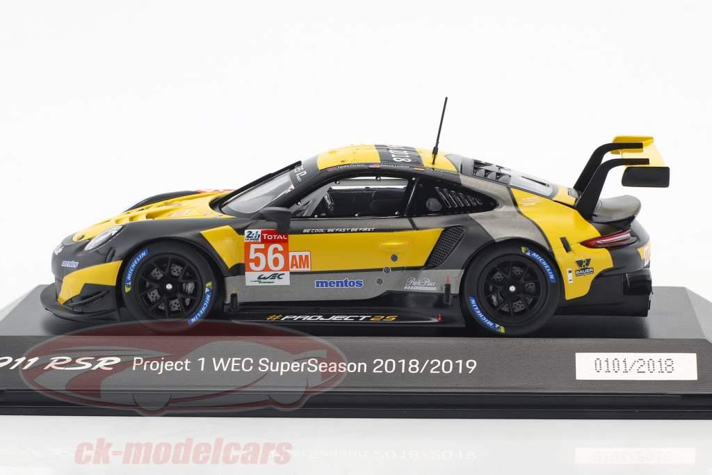 Porsche 911 (991) RSR #56 WEC SuperSeason 2018/2019 Project 1 1:43 Spark