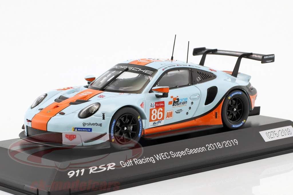 Porsche 911 (991) RSR #86 WEC SuperSeason 2018/2019 Gulf Racing 1:43 Spark