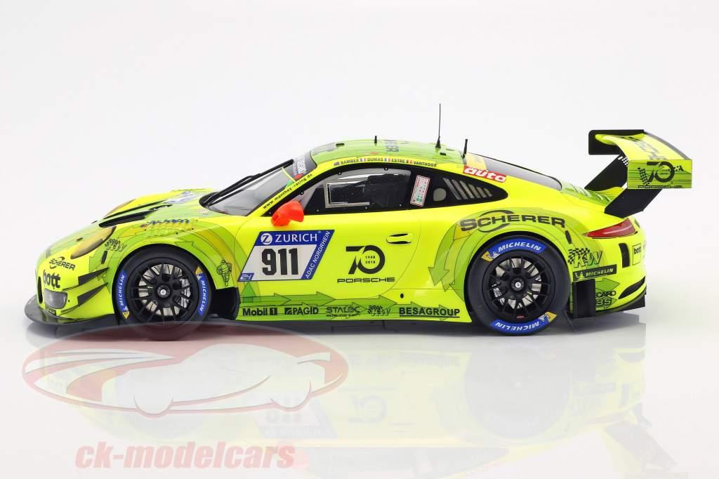 Porsche 911 (991) GT3 R #911 24h Nürburgring 2018 Manthey Racing Grello 1:18 Spark