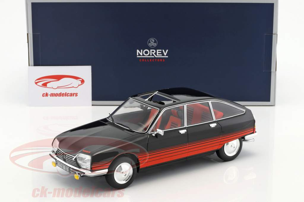 Citroen GS Basalte year 1978 black / red 1:18 Norev