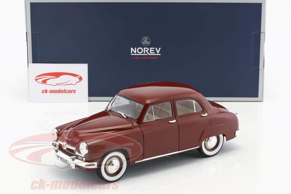 Simca 9 Aronde year 1953 amaranth red 1:18 Norev
