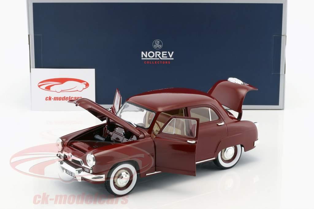 Simca 9 Aronde Baujahr 1953 amarant rot 1:18 Norev