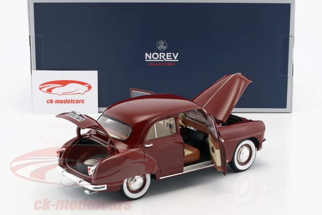 Simca 9 Aronde Opførselsår 1953 amarant rød 1:18 Norev