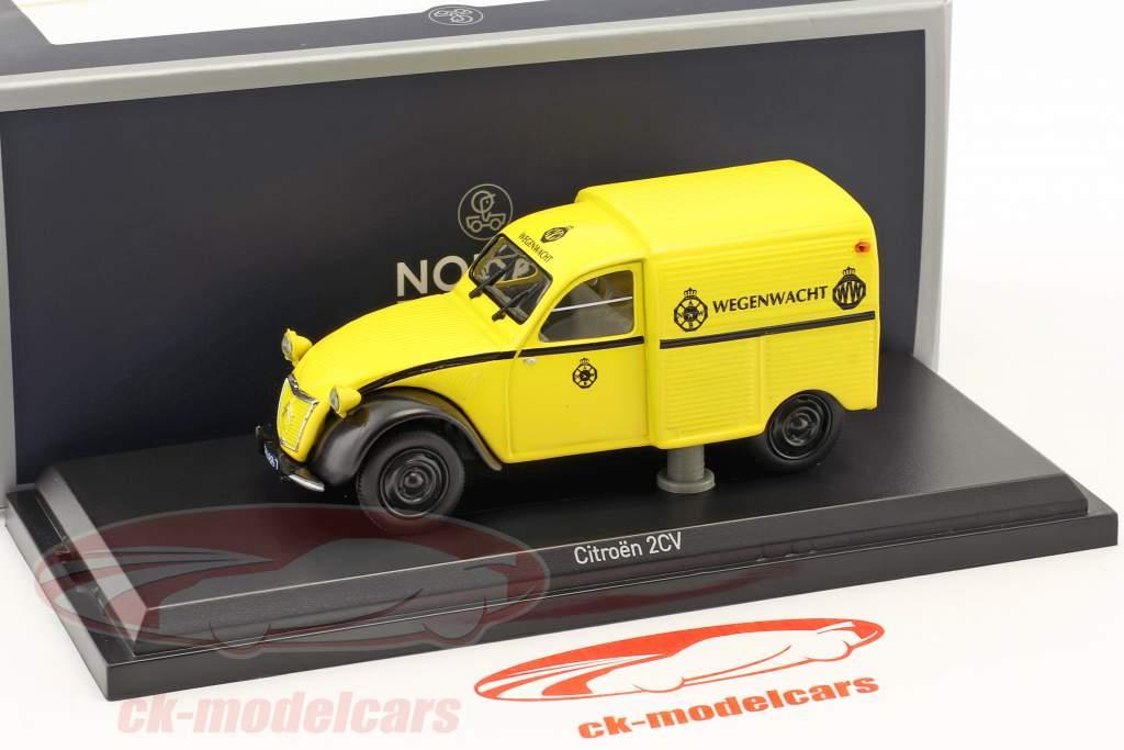 Citroen 2CV AZU Wegenwacht Opførselsår 1959 gul 1:43 Norev