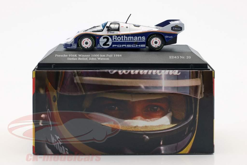 Porsche 956K #2 vincitore 1000km Fuji 1984 Bellof, Watson 1:43 CMR