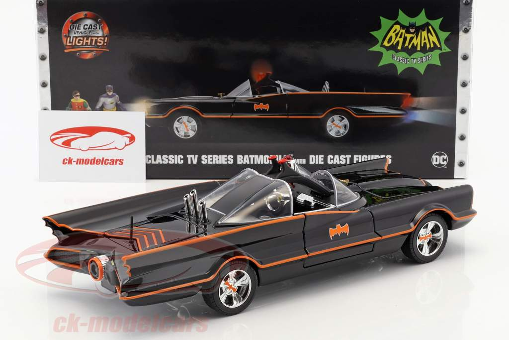Batmobile Classic TV Series 1966 med Batman og Robin figur 1:18 Jada Toys